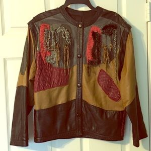 Vintage 80s La Squadra Monte Carlo Leather Jacket